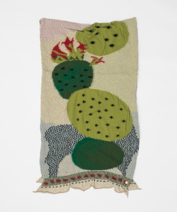 CACTUS Wool Scarf Green