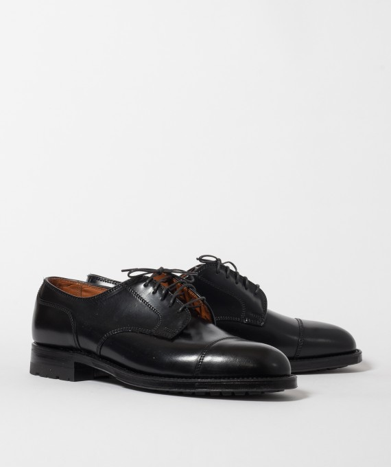 Alden for JINJI Straight Tip Blucher Black