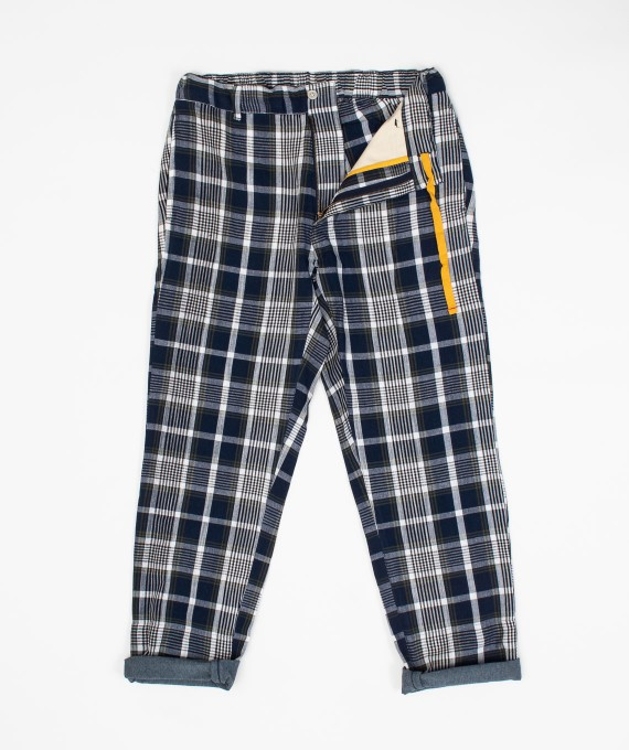 Madras Pants Blue