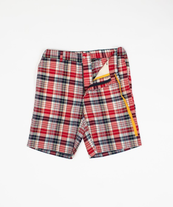 Madras Short White