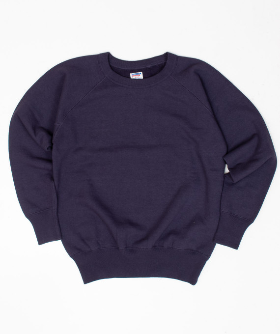Sweat Raglan Plain Style Navy