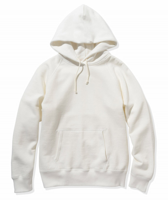 9 oz Loopwheel Parka White