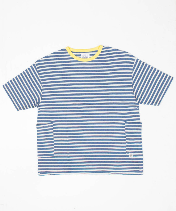 Border Side Tee Blue