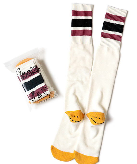 Skaters High Socks Burgundy KAPITAL