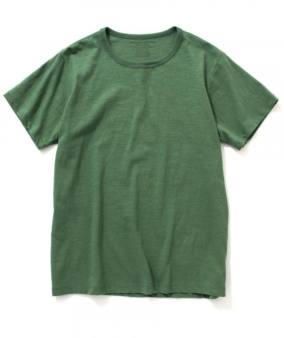 Cotton Summer Tee Olive The Real McCoys