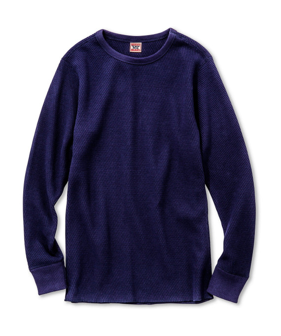 MILITARY THERMAL SHIRT BLUE The Real McCoy's