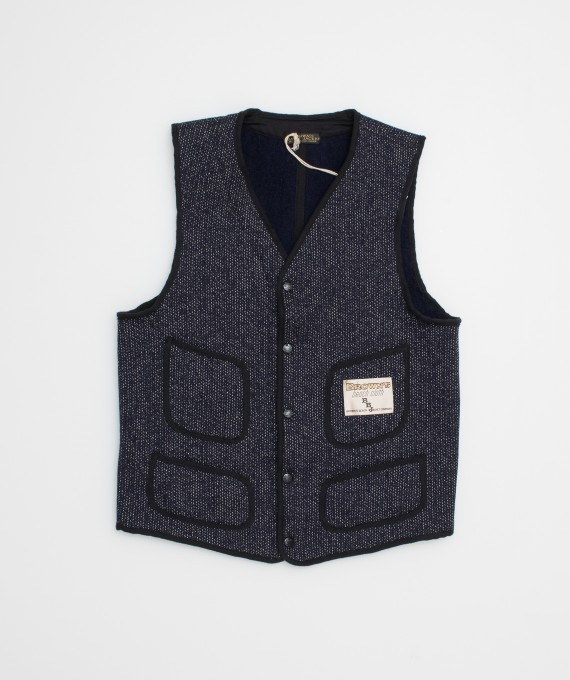 Gilet Brown's Beach V neck marine